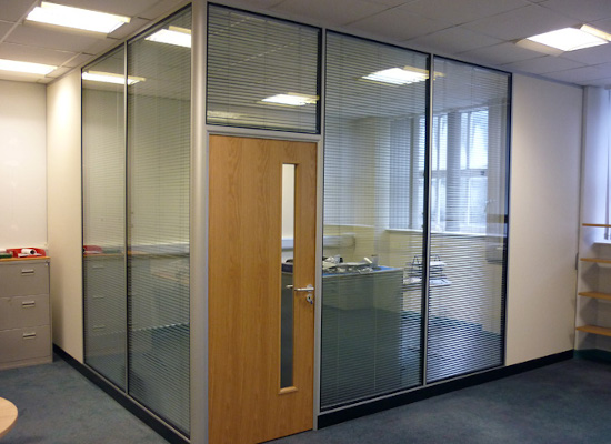 Office Partitioning, window blinds, Rooms and washroom cubicles